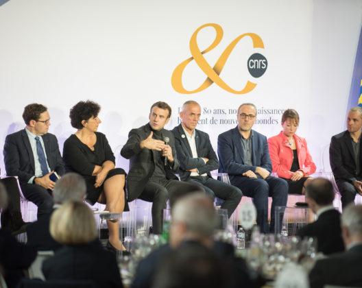 Intervention d'Emmanuel Macron lors du diner de gala des 80 ans du CNRS